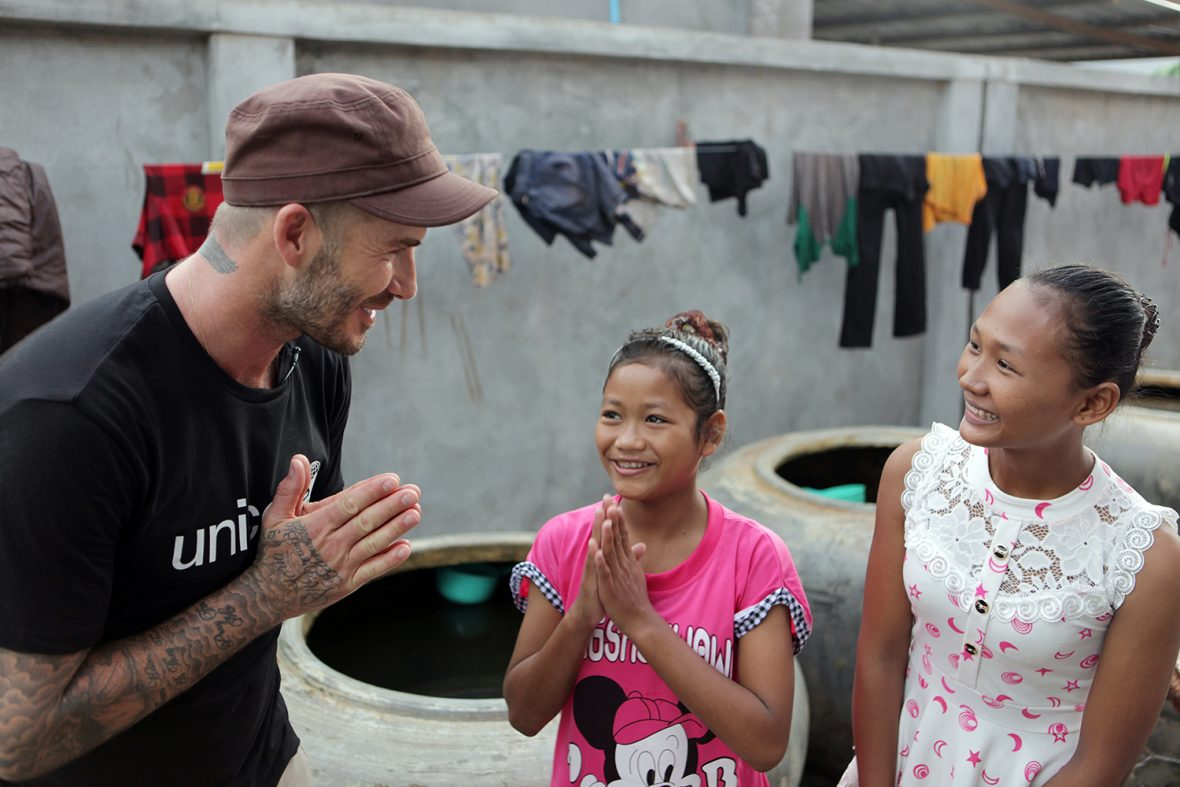 UNICEF Goodwill Ambassador David Beckham travelled to Cambodia to see how UNICEF and its partners are helping children who have endured physical, sexual and emotional abuse, and are protecting vulnerable children from danger.