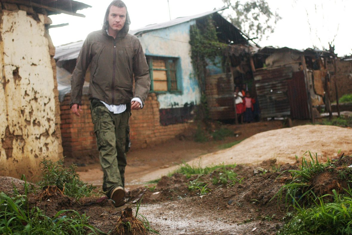 UNICEF Goodwill Ambassador Ewan McGregor in Malawi, seeing Unicef's work with AIDS orphans