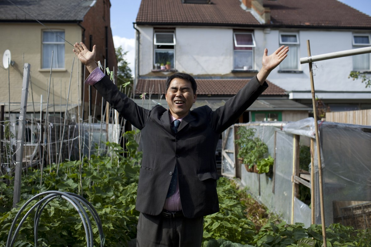 A Korean vegetable farmer in New Malden - Syngenta Photography Award