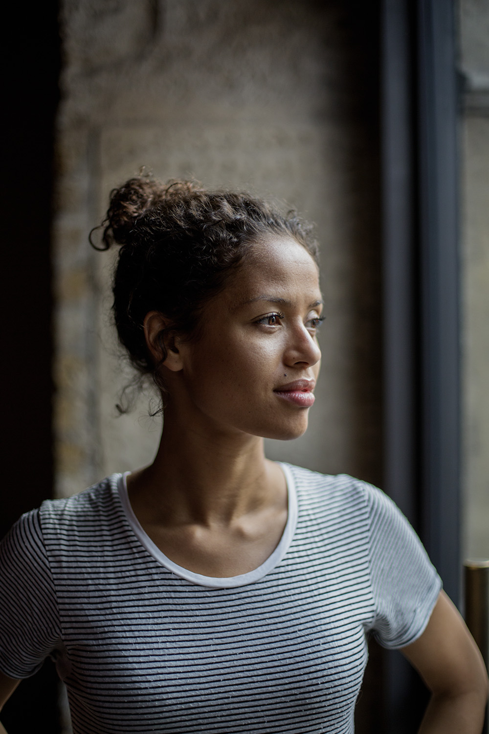 Yay! My portrait of Gugu Mbatha-Raw has just joined the National Portrait Gallery's permanent collection. Gugu is pictured backstage at the Royal Court Theatre in London, preparing to perform in The Children's Monologues, directed by Danny Boyle, in aid of the arts charity Dramatic Need.