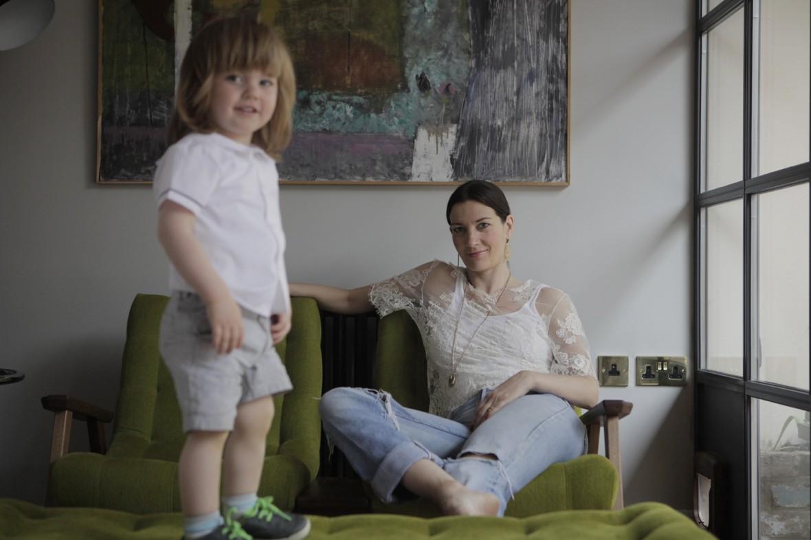 Melanie Rickey with her son - Kin Magazine