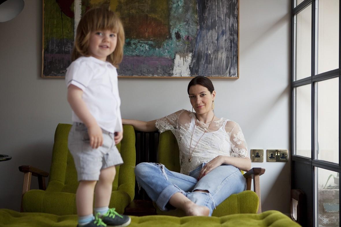 Melanie Rickey with her son Horatio
