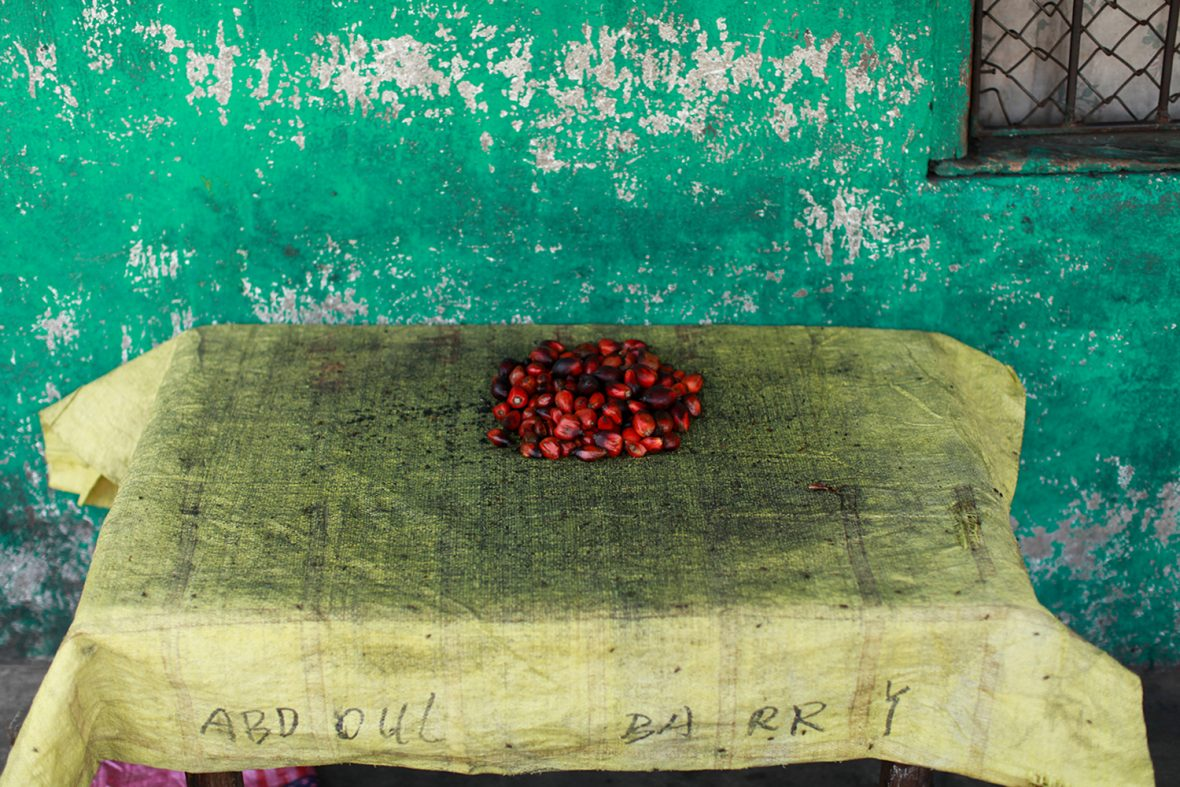 Kola nuts for sale, West Point, Liberia